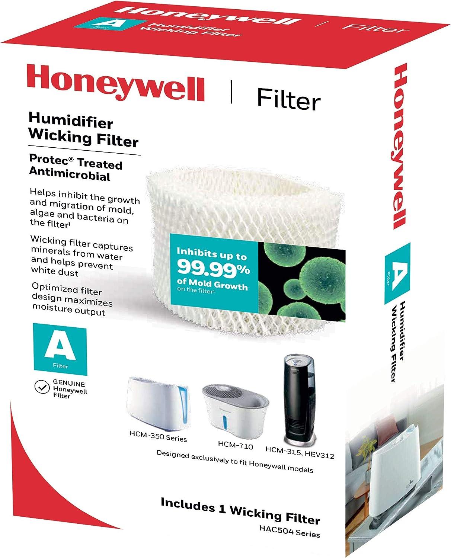 Honeywell Humidifier Wick Filter, Single, HAC 504NTG