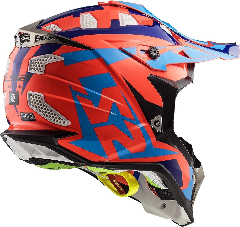 LS2-404702054L//162 Casco enduro offroad motocross SUBVERTER MX470 NIMBLE COLOR BL//AZ//AM TALLA L LS2-404702054L//162