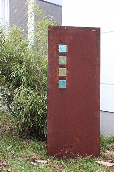 Amazon De Garten Sichtschutz Metall Rost Gartenzaun Gartendeko