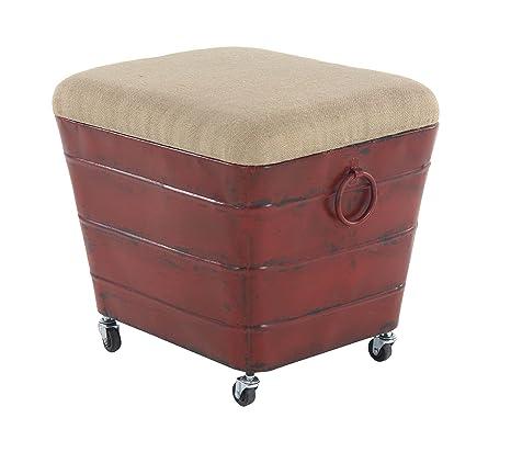 Wondrous Amazon Com Deco 79 98196 Foot Stool Dark Brown Black Home Ncnpc Chair Design For Home Ncnpcorg