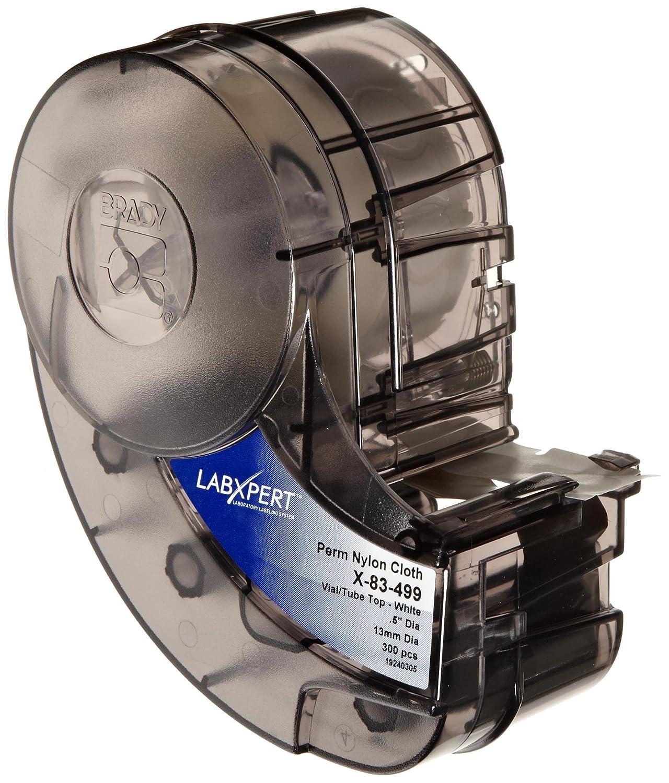 0.75 Width B-499 Nylon Cloth Brady X-11-499 IDXPERT 0.5 Height Black On White Color Label 275 Per Cartridge