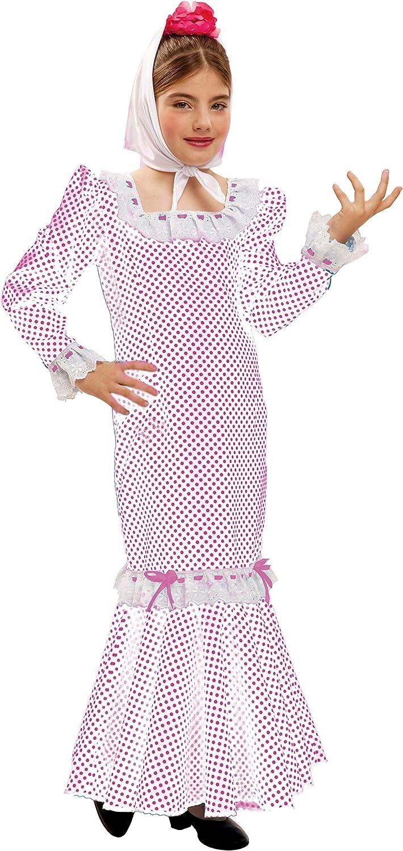 My Other Me - Disfraz de madrileña para niña, talla 10-12 años, color blanco (Viving Costumes MOM02319): Amazon.es: Juguetes y juegos