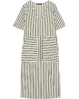 ca8a781d4825 Zara Women s Midi Dress with Pockets 5039 472 Grey  Amazon.co.uk ...