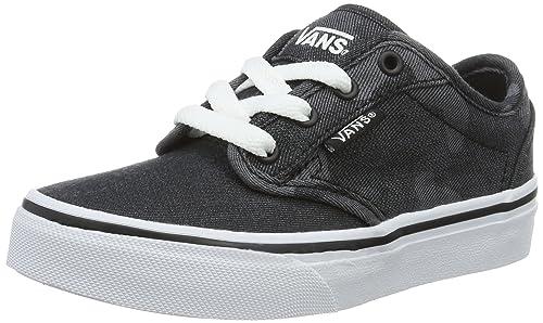 vans y atwood canvas black/ - zapatillas de lona infantil
