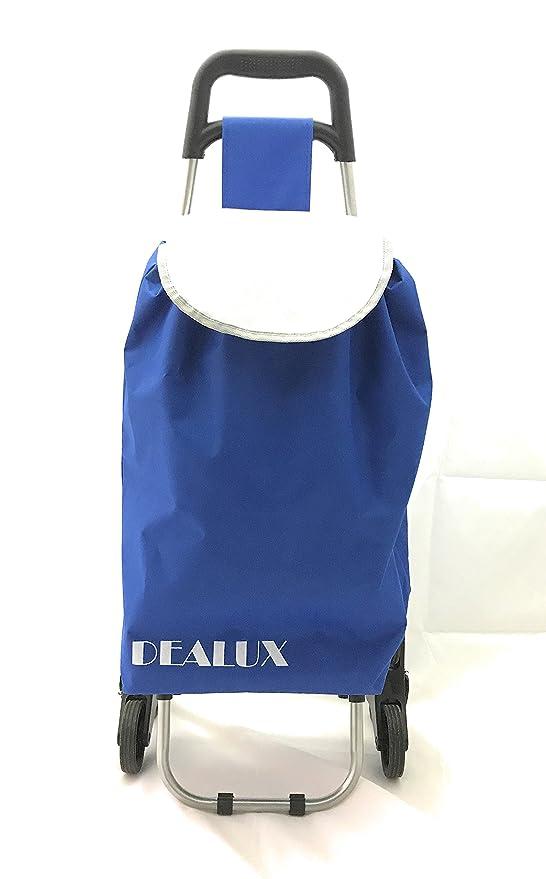 dealux Chariot Shoppy Tris Bleu six roues cxqZgm47