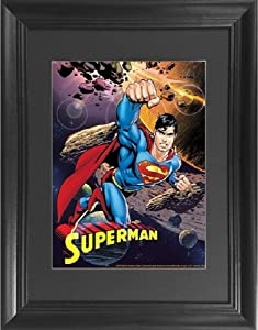 Superman 3D Poster Wall Art Decor Framed Print | 14.5x18.5 | Lenticular Posters & Pictures | Memorabilia Gifts for Guys & Girls Bedroom | DC Comic Book Classic Hero Movie Fan Picture & Collectable