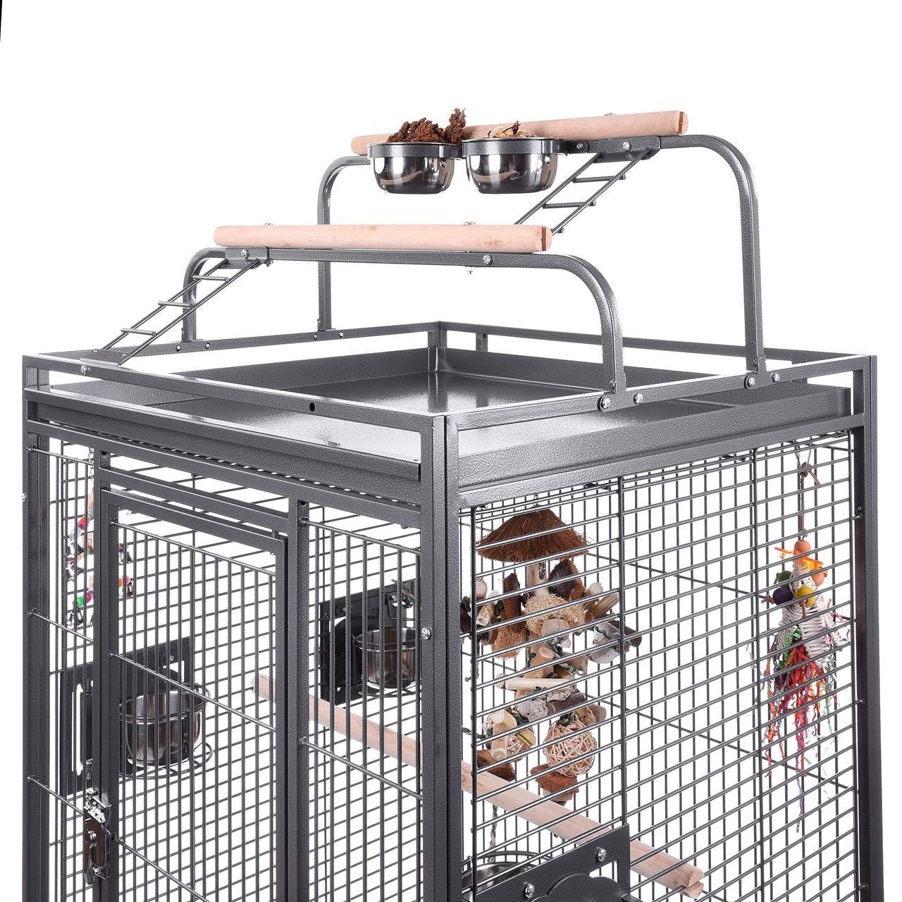 Montana Finca II Play jaula de alambre de metal con revestimiento ...