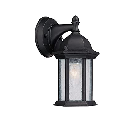 Capital lighting 9831bk main street 1 light outdoor wall lantern black with seeded glass