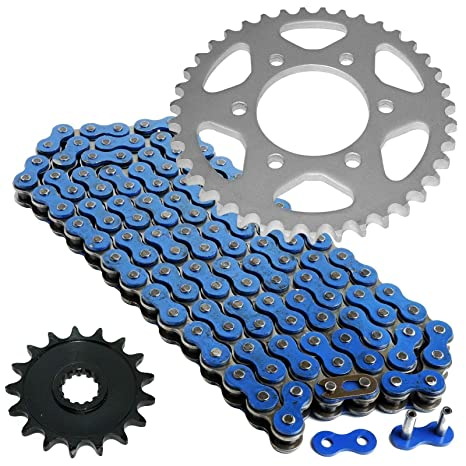 Amazon.com: CALTRIC Blue Drive Chain and Sprocket Kit Fits ...