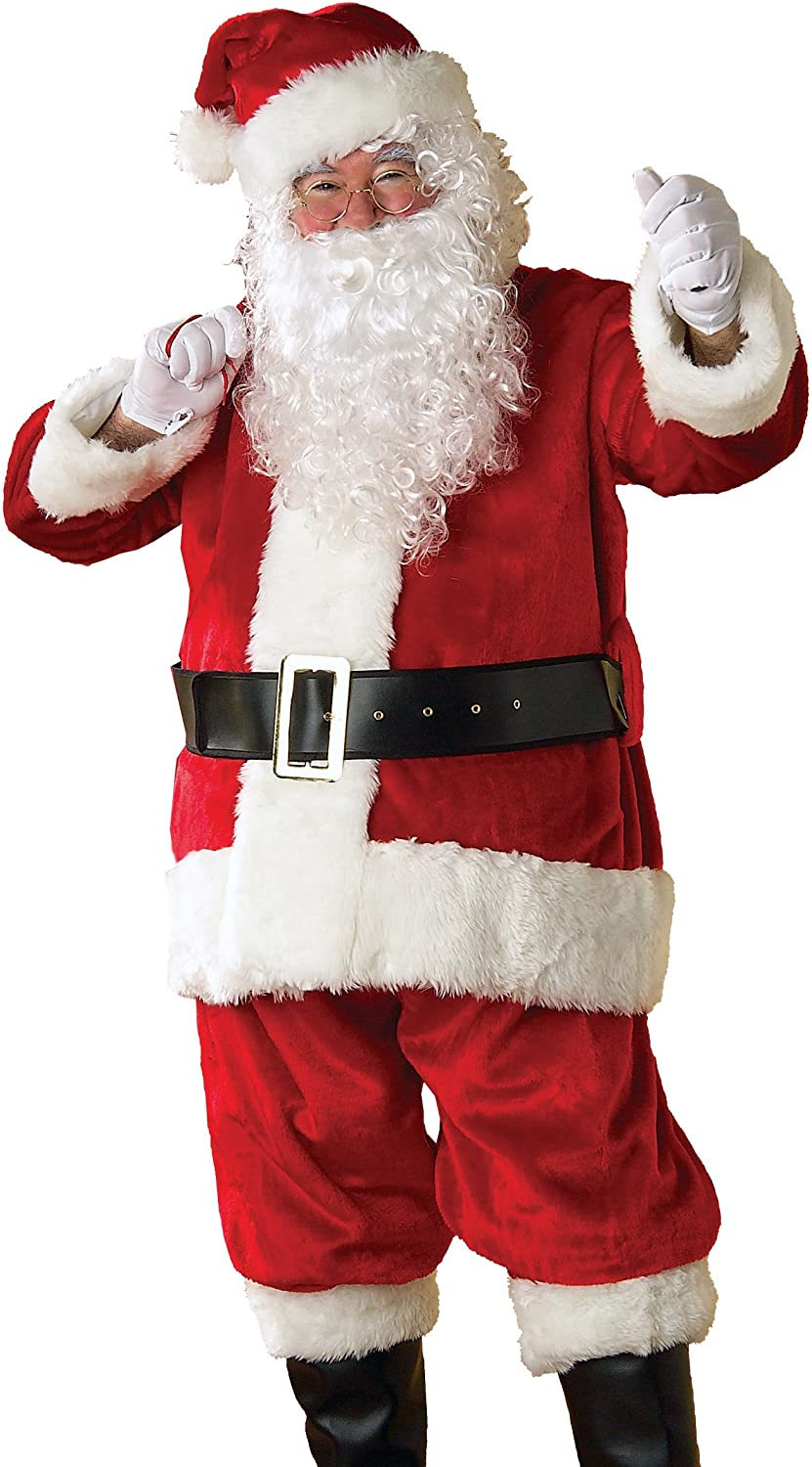 Infant Rubie/'s Velvet Santa Suit Red//White