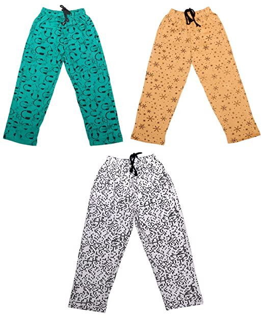 1687e155f Indistar Kids Baby Boys & Girls Premium Cotton Printed Lowers/Track Pant  with 2 open Pockets (Pack of 3)-Beige/White/Green-4-5 Years: Amazon.in:  Clothing & ...