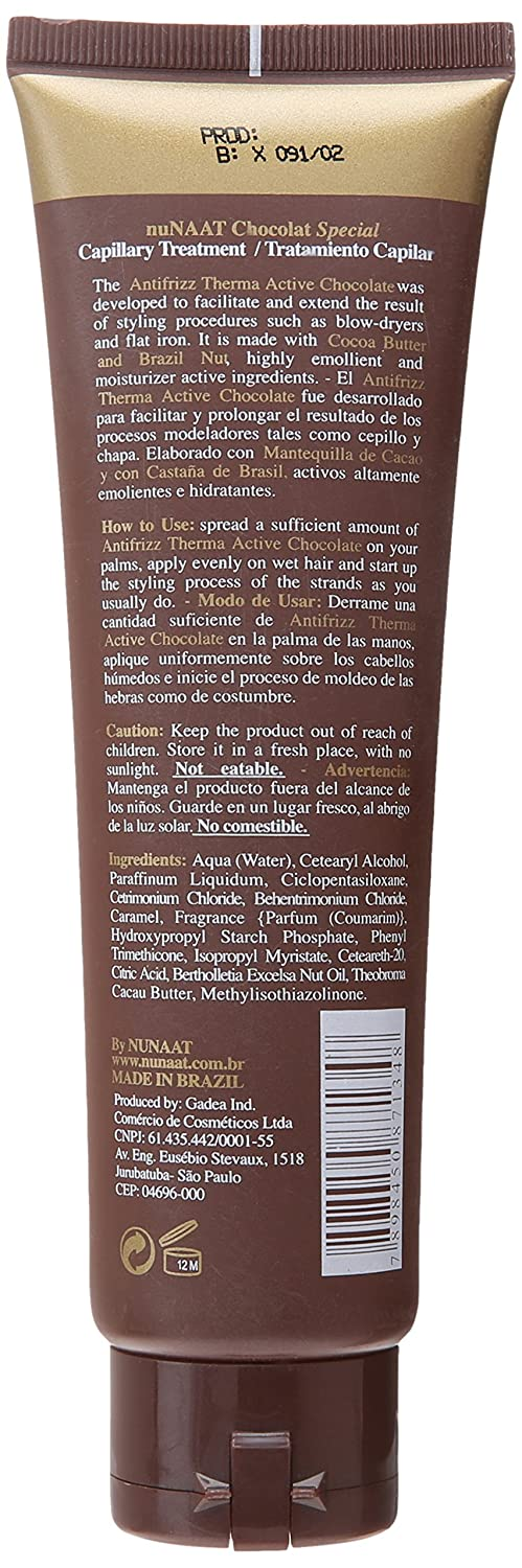Amazon.com : Nunaat Chocolat Special Antifrizz, 5.2 Ounce : Intensive Hair Treatments : Beauty