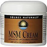 Source Naturals MSM Cream, Advanced Liposomal Delivery, 4 Ounces
