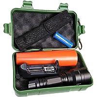 Linterna policia LED incluye batería litio recargable, cargador y cono tráfico. LED Cree T6 1000 Lumenes. Uso…