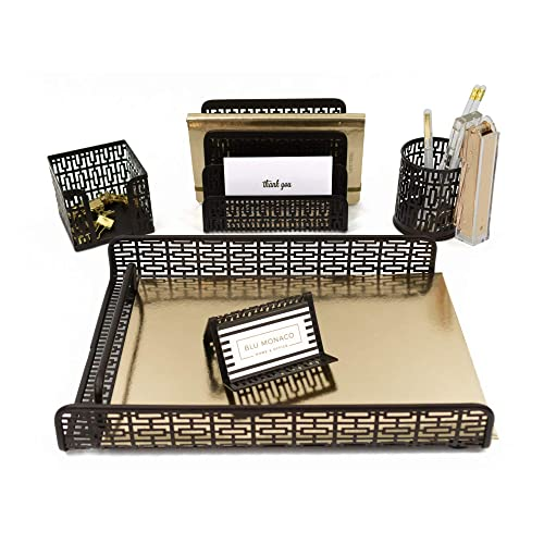 cool office supplies woman blu monaco bronze desk organizer piece accessories set letter mail cool office accessories amazoncom
