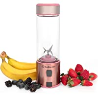 Portable Rechargeable Blender to Help You Stay Healthy and Fit On The Go. Blends Smoothies, Shakes, Post-Workouts, Pre-Workouts and Supplements. Larger 450 ml cup. Rechargeable via USB. NON TOXIC & BPA FREE. Colour Rose Gold