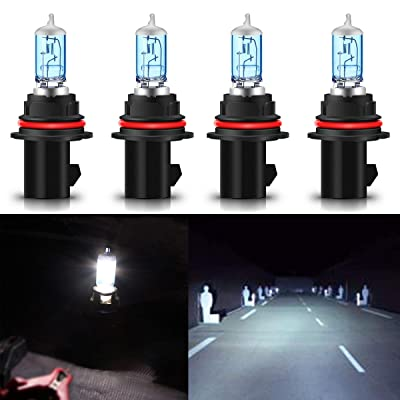 CK Formula (Pack of 4 Pieces) 9007-HB5 100/80W Super Bright White 5000K Xenon Halogen Headlight Bulb (High/Low Beam) USA: Automotive