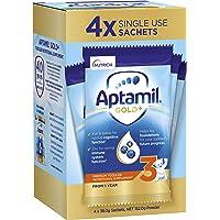 Aptamil Gold+ 3 Toddler Milk Drink Powder Sachets From 1 Year 4 Pack, 155.2 g
