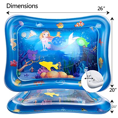 Mat Water Playmat, Inflatable Tummy Time Premium Water mat Infants Toy Inflatable Play Mat: Toys & Games