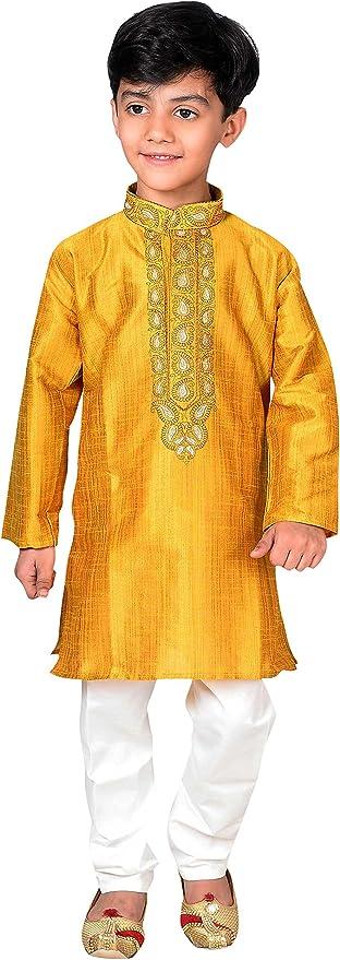 Desi Sarees Pijama Kurta para niño Shalwar Kameez Sherwani Boda ...