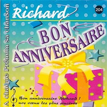 Joyeux Bon Anniversaire Richard A Chaque Prenom Sa Chanson Amazon