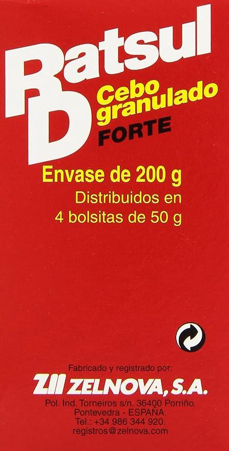 Ratsul D - Cebo granulado Forte - 4 bolsitas x 50 g: Amazon ...