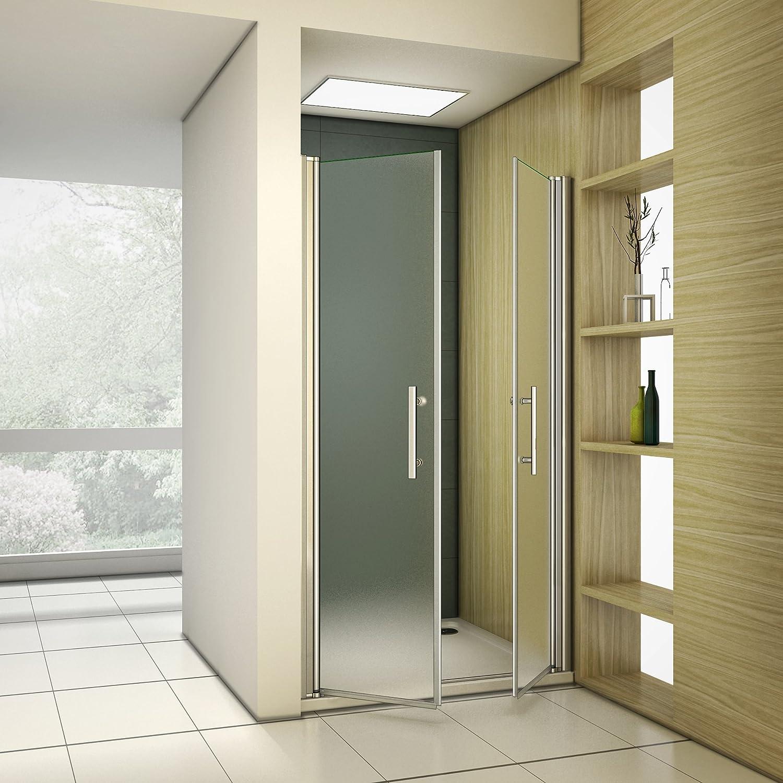 Porte de douche 110x187cm pivotante en niche mod/èle de Toulis