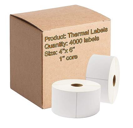 10 Roll 10000 4x6 Zebra Eltron Direct Thermal Printer Shipping