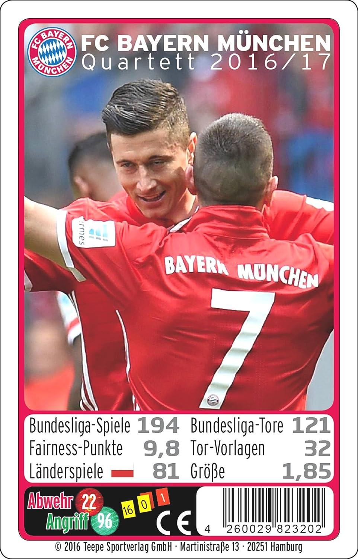 Teepe 23202 FC Bayern Múnich Quartett 16/17 Cartas de la ...