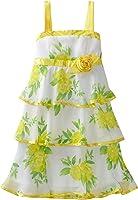Amy Byer Big Girls' Print Chiffon Sleeveless Tiered Dress