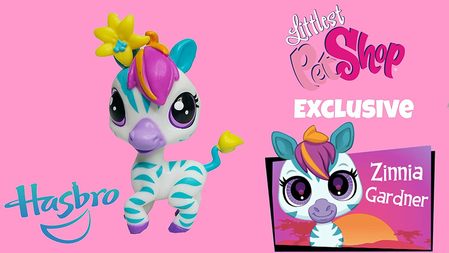 Littlest Pet Shop Special Edition Zinnia Gardner Zebra #3846