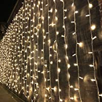 Magictec 300 LED Curtain String Light, 8 Lighting Modes Fairy Twinkle String Lights Wedding Party Home Garden Bedroom…