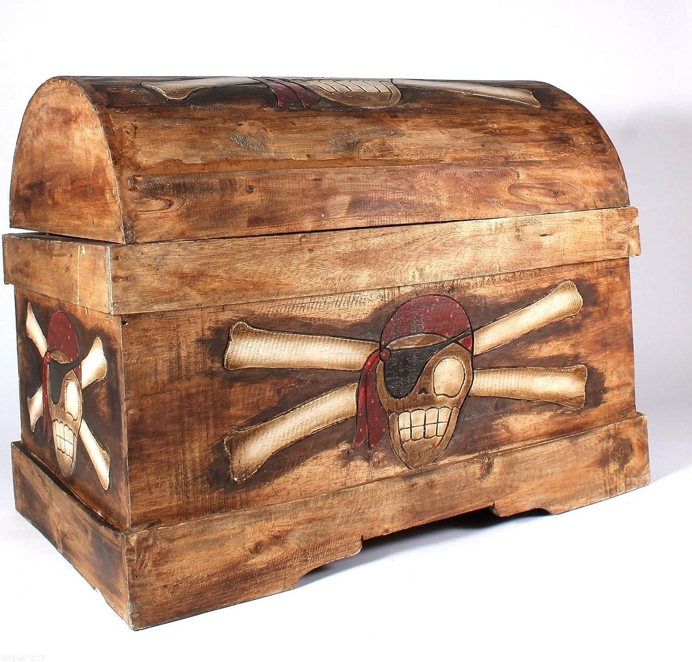 Wohnkult Forziere dei pirati, misura XXL, 80 cm, in legno di palma