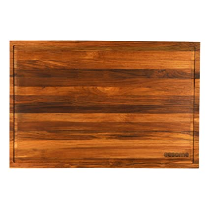 Eesome Teak Wood Cutting Board Premium Chopping Board With Reversible Usage 12 18 1 25 Inches