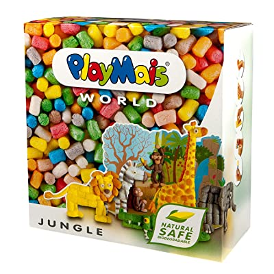 PlayMais WORLD Jungle Arts and Crafts Modeling Kit (1000 Pieces): Toys & Games