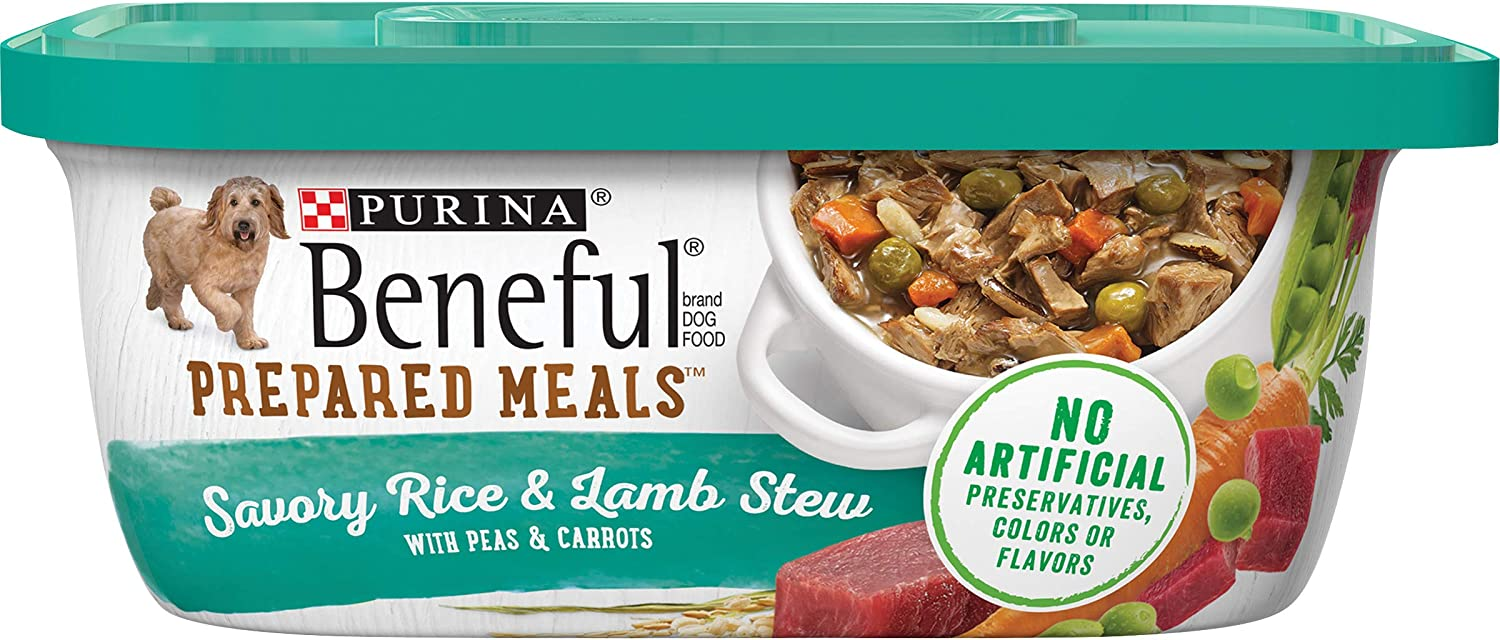 Purina Beneful Prepared Meals Adult Wet Dog Food - (8) 10 oz. Tubs