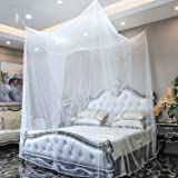 GA Homefavor Mosquito Net, 4 Corner Post Bed Canopy Includes Hanging Kit with Portable Carry Bag