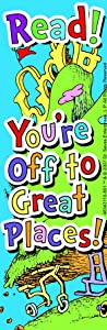 Eureka Back to School Dr. Seuss Oh, The Places You'll Go! 'Read!' Bookmarks for Kids 36pc, 2'' W x 6'' H