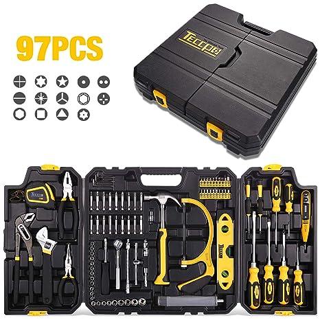 Amazon.com: TECCPO - Juego de herramientas para el hogar, 97 ...