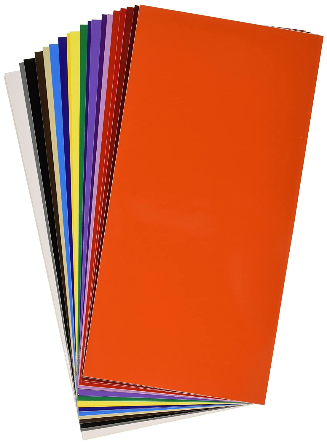 Vinyl ease 6 x 12 30 sheets assorted colors gloss for Vinyl sheets for crafts