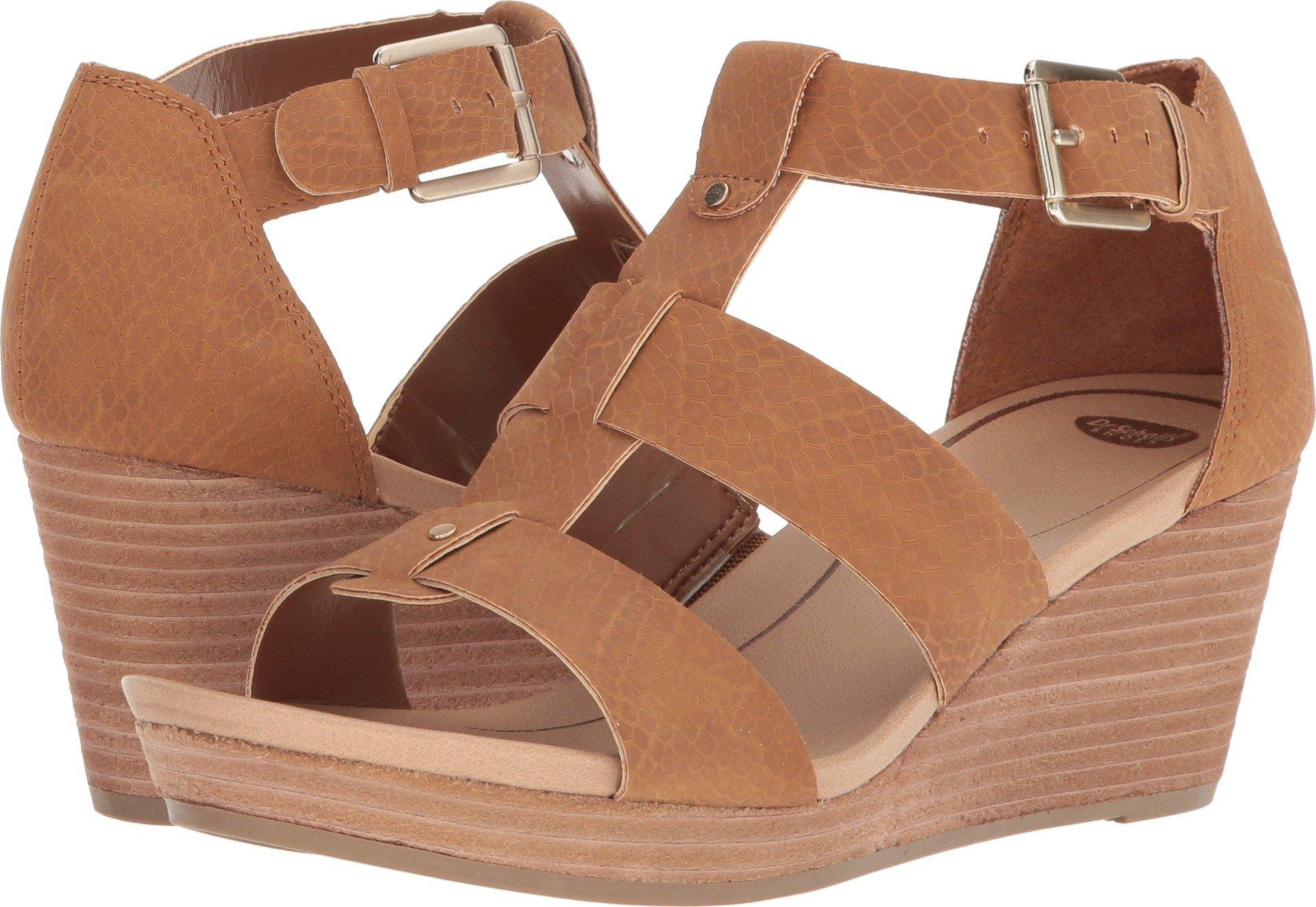 Dr. Scholl's Shoes Women's Barton Wedge Sandal, Saddle Snake Print, 7 M US