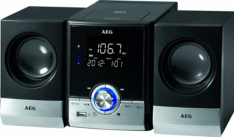 AEG MC 4461BT carga superior reproductor de CD con Bluetooth y MP3 - Negro