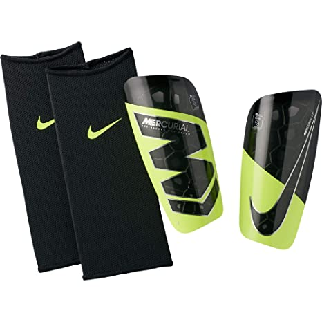 best authentic 69316 6dfd0 Nike Mercurial Lite Shin Guard (Black Volt) Size Small