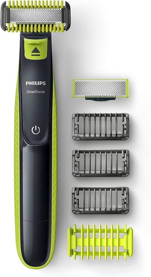 Philips Norelco OneBlade QP2620/25 depiladora para la barba Mojado y seco Negro, Amarillo - Depiladoras para la barba (Negro, Amarillo, Batería, Integrado, 8 h): Amazon.es: Salud y cuidado personal