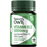 Nature's Own Vitamin B12 1000mcg - Maintains Healthy Brain Function - Facilitates Energy Production, 60 Tablets