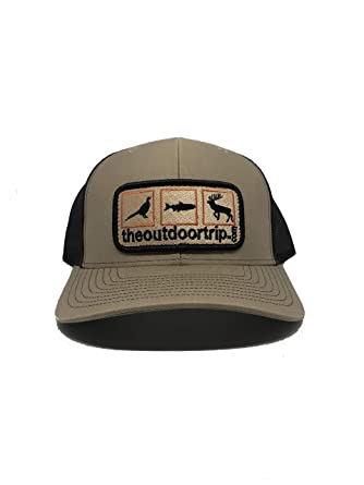 d53fa8a9c5 Snapback Ball Cap - Deer Duck and Turkey Hunting with Brown Mesh Tan ...