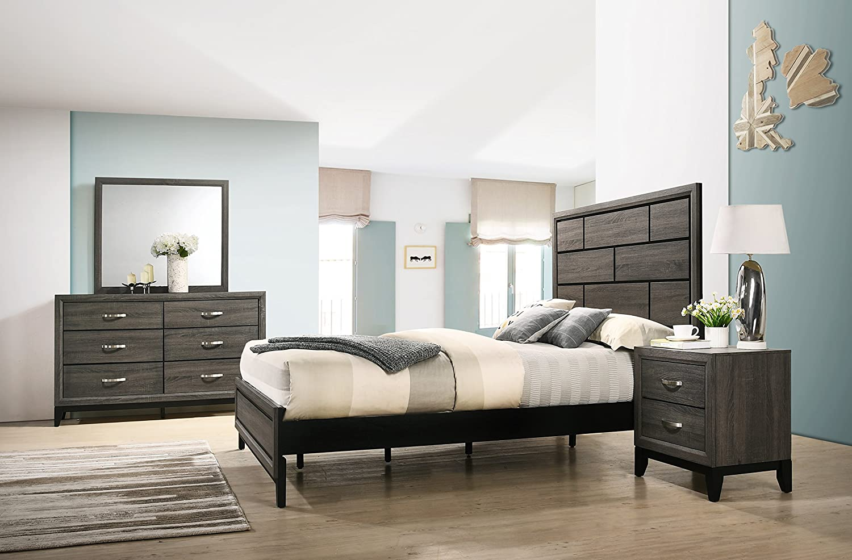 Amazon Com Roundhill Furniture B170qdmn Stout Panel Queen Size