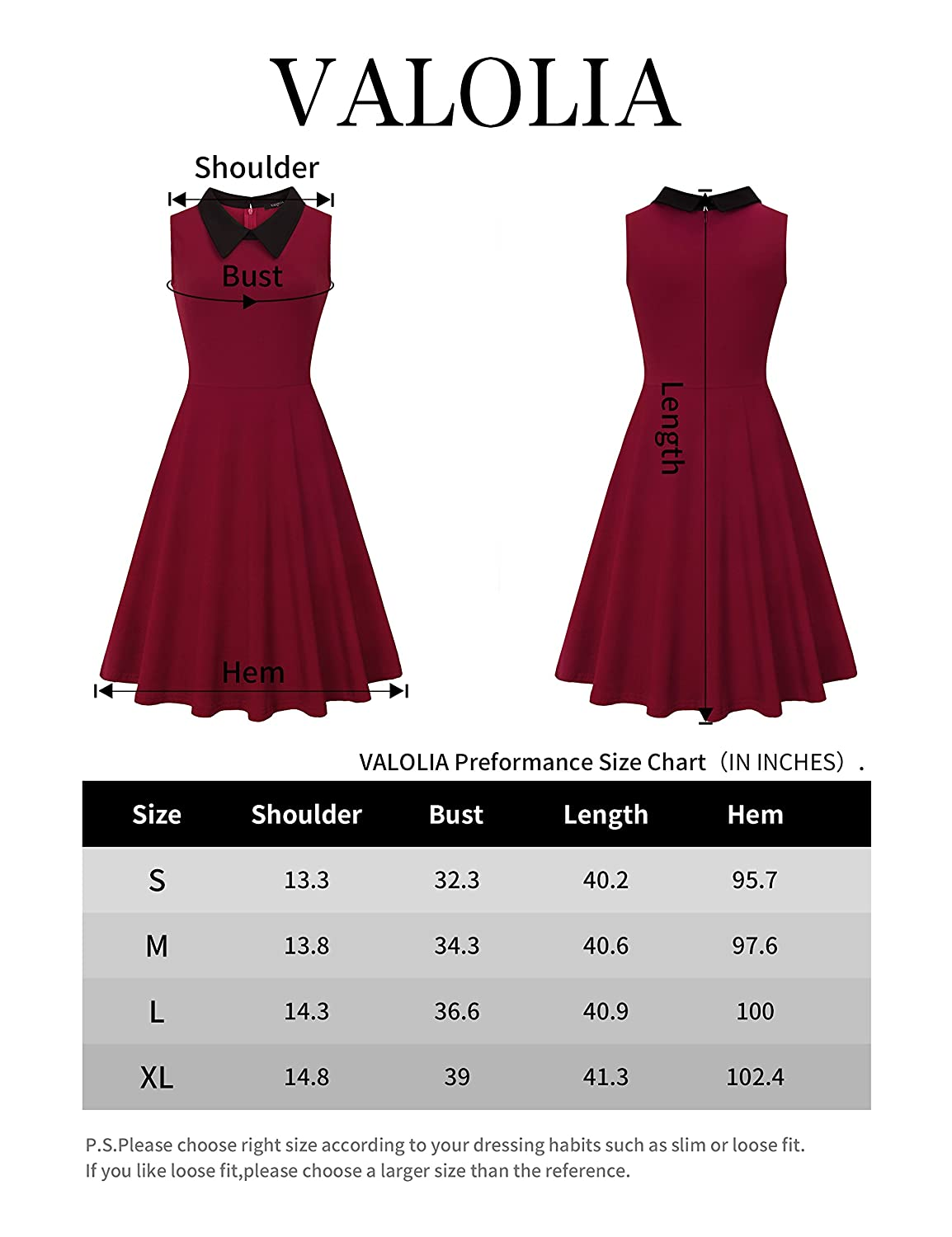 VALOLIA Womens Summer Sleeveless Collar Midi Swing Work Casual Dresses for Party Wedding at Amazon Womens Clothing store:
