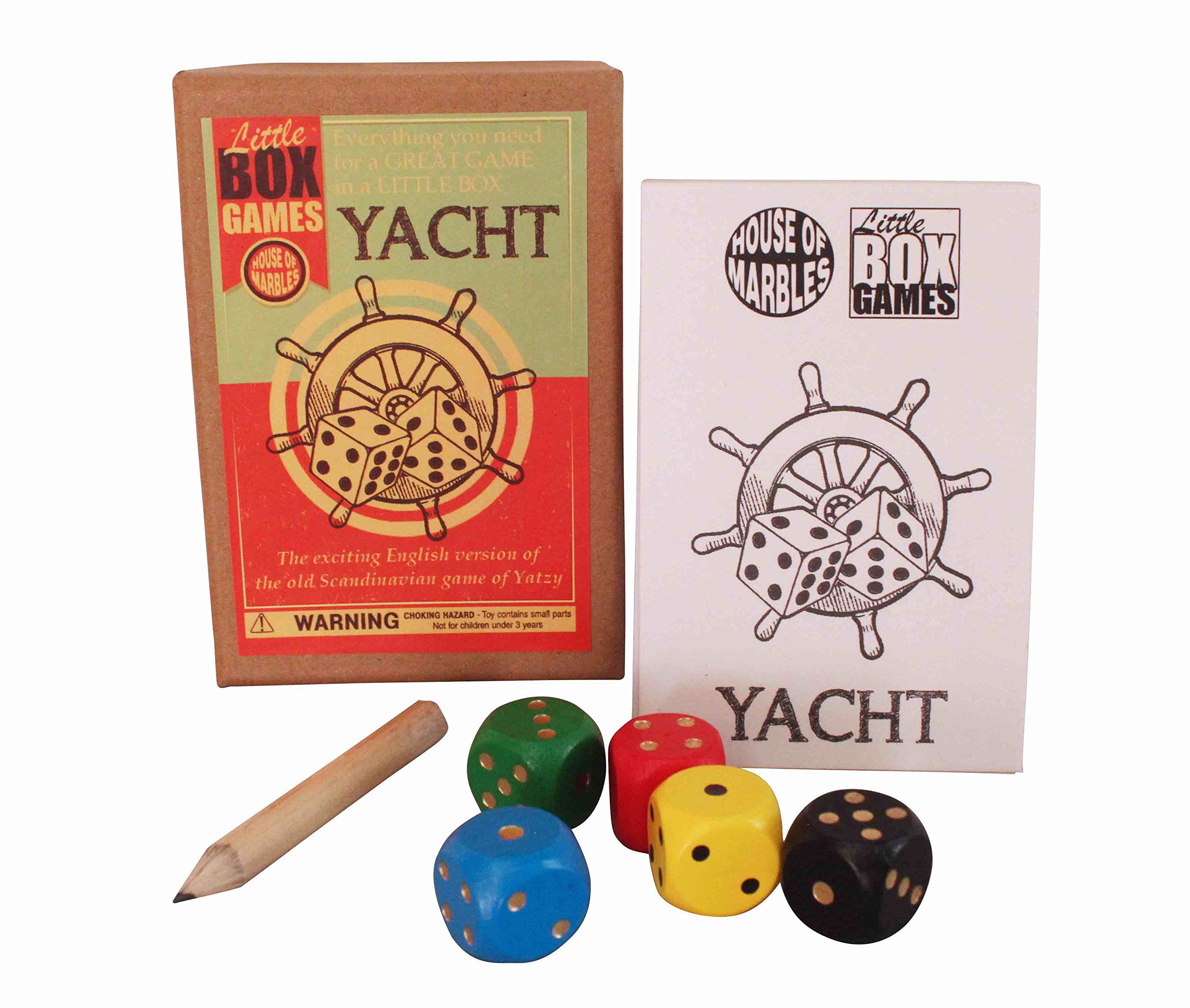 House of Marbles Little Box Game - Yacht - Vintage Toys for Kids and Adults
