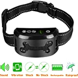 [NEWEST Version 2018] Bark Collar - Dog No Bark Collar with Static Vibration Correction, USB Rechargeable with 4 Training Modes for All Breeds and Sizes, Trainer Recommended Dog Bark Control Device